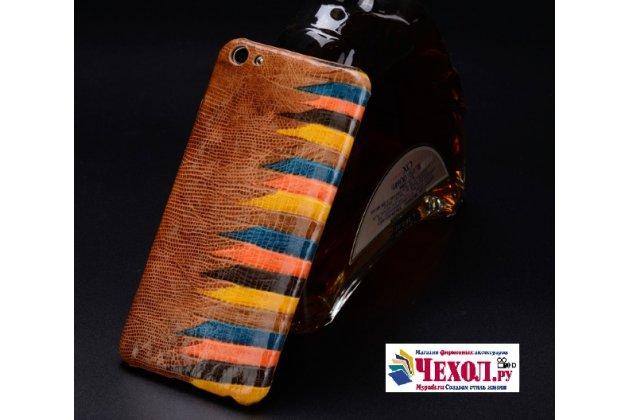 Фирменная неповторимая экзотическая панель-крышка обтянутая кожей крокодила с фактурным тисненем для  Asus ZenFone 3 Zoom ZE553KL 5.5 (Z01HDA) тематика Африканский Коктейль. Только в нашем магазине. Количество ограничено.