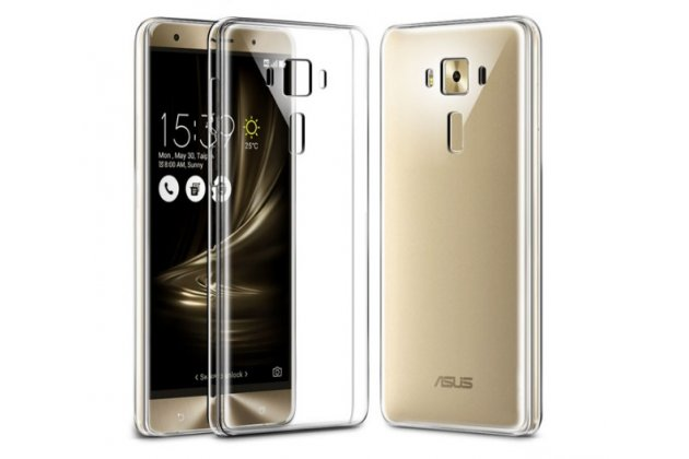 """Фирменная ультра-тонкая силиконовая задняя панель-чехол-накладка для ASUS Zenfone 3 ZE552KL 5.5"""" прозрачная"""