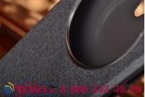 Фирменный чехол-книжка для Asus ZenFone Go ZC500TG черный с окошком для входящих вызовов водоотталкивающий