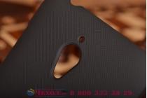 Фирменная задняя панель-крышка-накладка из тончайшего и прочного пластика для Asus Zenfone GO ZC500TG черная