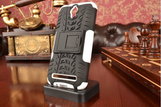 """Противоударный усиленный ударопрочный фирменный чехол-бампер-пенал для Asus Zenfone Go ZC451TG 4.5"""" белый"""