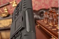 """Противоударный усиленный ударопрочный фирменный чехол-бампер-пенал для Asus Zenfone Go ZC451TG 4.5"""" черный"""