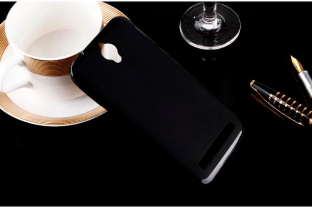 """Фирменная ультра-тонкая силиконовая задняя панель-чехол-накладка для Asus Zenfone Go ZC451TG 4.5"""" черная"""