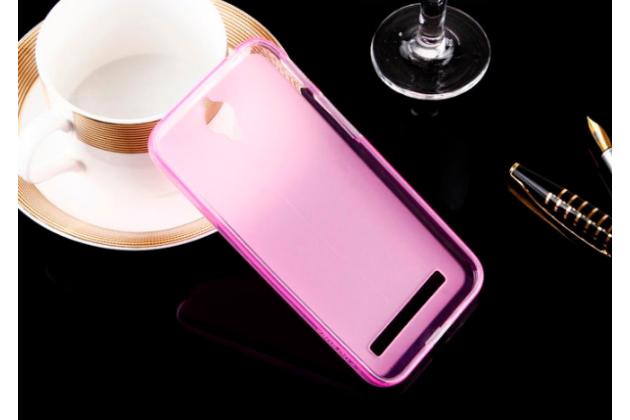 """Фирменная ультра-тонкая силиконовая задняя панель-чехол-накладка для Asus Zenfone Go ZC451TG 4.5"""" розовая"""