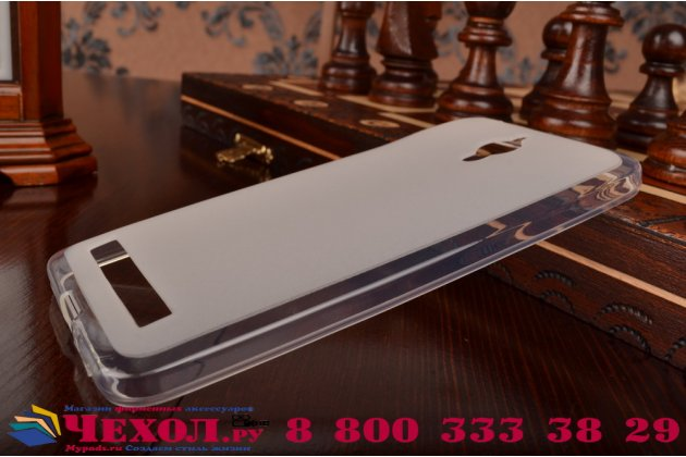 Фирменная ультра-тонкая полимерная из мягкого качественного силикона задняя панель-чехол-накладка для Asus Zenfone GO ZC500TG  белая
