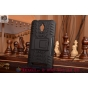 Противоударный усиленный ударопрочный фирменный чехол-бампер-пенал для Asus ZenFone Go ZC500TG черный..