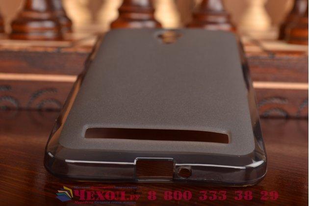 Фирменная ультра-тонкая полимерная из мягкого качественного силикона задняя панель-чехол-накладка для Asus Zenfone GO ZC500TG  черная