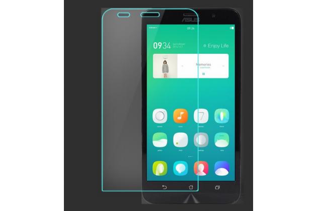 """Фирменное защитное закалённое противоударное стекло премиум-класса из качественного японского материала с олеофобным покрытием для телефона Asus Zenfone Go ZC451TG 4.5"""""""