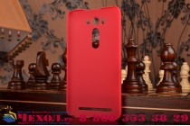 """Фирменная задняя панель-крышка-накладка из тончайшего и прочного пластика для ASUS Zenfone 2 Lazer ZE500KL 5.0""""  красная"""
