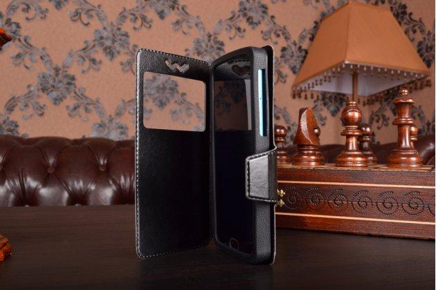 """Чехол-книжка для ASUS ZenFone 3 ZE520KL 5.2"""" кожаный с окошком для вызовов и внутренним защитным силиконовым бампером. цвет в ассортименте"""
