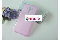 """Фирменная ультра-тонкая силиконовая задняя панель-чехол-накладка для ASUS ZenFone 3 Laser ZC551KL 5.5"""" розовая"""