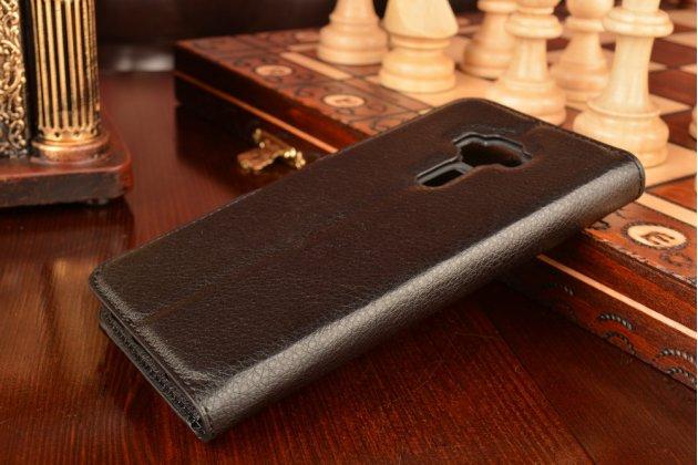 """Фирменный чехол-книжка для ASUS ZenFone 3 / Zenfone 3 Neo ZE520KL 5.2"""" с визитницей и мультиподставкой черный кожаный"""