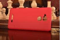 Фирменная задняя панель-крышка-накладка из тончайшего и прочного пластика для ASUS ZenFone 3 Max ZC520TL 5.2 красная