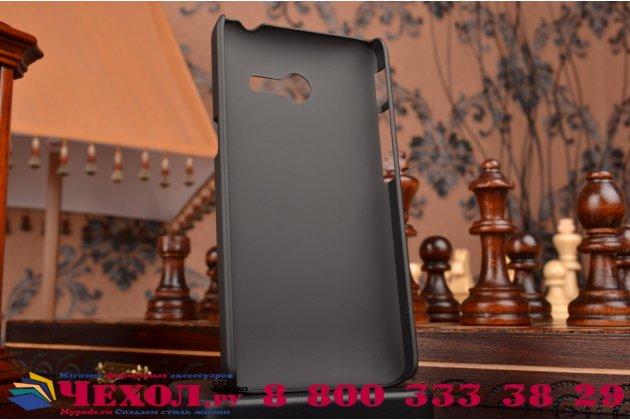 Фирменная задняя панель-крышка-накладка из тончайшего и прочного пластика для Asus Zenfone 4 4.0 A400CG черная