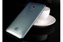 Фирменная ультра-тонкая полимерная из мягкого качественного силикона задняя панель-чехол-накладка для ASUS Zenfone 5 A501CG/A500KL синяя
