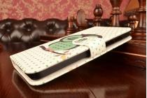 """Фирменный уникальный необычный чехол-книжка для ASUS Zenfone 5 A501CG/A500KL """"тематика Сова"""""""