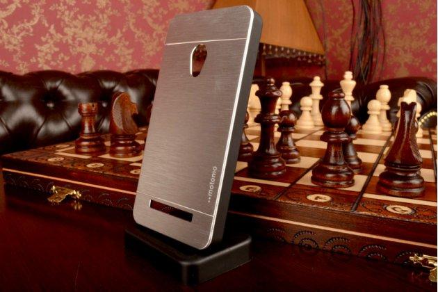 Фирменная металлическая задняя панель-крышка-накладка из тончайшего облегченного авиационного алюминия для ASUS Zenfone 5 / Zenfone 5 LTE A501CG/A500KL серебристая