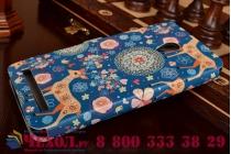 Фирменный чехол-книжка с безумно красивым расписным рисунком Оленя в цветах на ASUS Zenfone 6 A600CG/A601CG с окошком для звонков