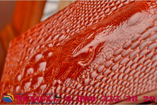 Фирменный роскошный эксклюзивный чехол с объёмным 3D изображением кожи крокодила для ASUS Zenfone 6 A600CG/A601CG. Только в нашем магазине. Количество ограничено
