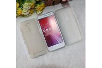 """Фирменная ультра-тонкая силиконовая задняя панель-чехол-накладка для ASUS ZenFone Go ZB452KG 4.5"""" белая"""