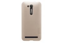 """Фирменная задняя панель-крышка-накладка из тончайшего и прочного пластика для ASUS ZenFone Go ZB452KG 4.5"""" золотая"""