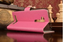 Фирменный роскошный чехол-книжка безумно красивый декорированный стразами на ASUS ZenFone Go ZB452KG 4.5