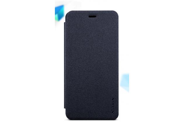 Фирменный оригинальный водооталкивающий чехол-книжка для ASUS Zenfone 4 4.5 A450CG черный