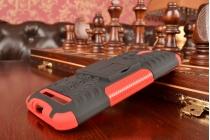 """Противоударный усиленный ударопрочный фирменный чехол-бампер-пенал для Asus Zenfone Go ZC451TG 4.5"""" красный"""