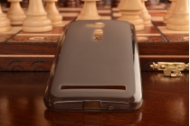 Фирменная ультра-тонкая полимерная из мягкого качественного силикона задняя панель-чехол-накладка для Asus Zenfone Go ZB500KL/ZB500KG серая