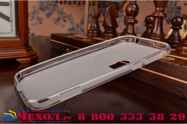 Фирменная ультра-тонкая полимерная из мягкого качественного силикона задняя панель-чехол-накладка для  ASUS ZenFone Zoom ZX551ML / ZX550ML белая