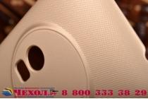 Фирменная задняя панель-крышка-накладка из тончайшего и прочного пластика для  ASUS ZenFone Zoom ZX551ML / ZX550ML  золотая