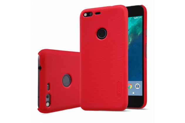 Фирменная задняя панель-крышка-накладка из тончайшего и прочного пластика для Google Pixel/HTC Google Nexus 2016/ HTC Nexus S1 красная