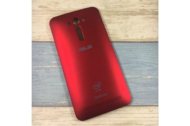 Родная оригинальная задняя крышка-панель которая шла в комплекте для ASUS Zenfone 2 Lazer ZE550KL 5.5 (Z00LD) красная