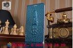 Чехол-книжка MyPads Premium для ASUS ZenFone 3 Laser ZC551KL 5.5 из натуральной кожи с объёмным 3D рельефом головы кожи крокодила роскошный эксклюзивный синий. Только в нашем магазине. Количество ограничено