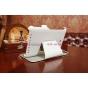 Фирменный чехол для Asus MeMO Pad HD 7 ME173X model K00B белый натуральная кожа