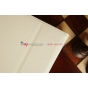 """Фирменный чехол для Asus MeMO Pad HD 7 ME173X с визитницей и держателем для руки белый натуральная кожа """"Prestige"""" Италия"""