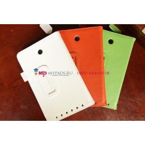 """Фирменный чехол для Asus MeMO Pad HD 7 ME173X оранжевый натуральная кожа """"Prestige"""" Италия"""