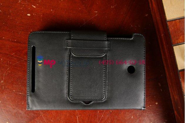 Фирменный оригинальный чехол со съёмной Bluetooth-клавиатурой для Asus MeMO Pad HD 7 ME173X model K00B черный кожаный + гарантия