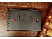 Фирменный оригинальный чехол-обложка для Asus MeMO Pad HD 7 ME173X с визитницей и держателем для руки черный н..