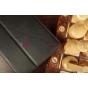 """Фирменный оригинальный чехол-обложка для Asus MeMO Pad HD 7 ME173X с визитницей и держателем для руки черный натуральная кожа """"Prestige"""" Италия"""
