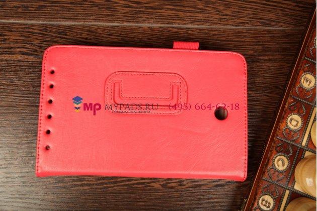 """Чехол-обложка для Asus MeMO Pad HD 7 ME173X с визитницей и держателем для руки красный натуральная кожа """"Prestige"""" Италия"""