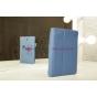 """Фирменный чехол-обложка для Asus MeMO Pad HD 7 ME173X с визитницей и держателем для руки синий натуральная кожа """"Prestige"""" Италия"""
