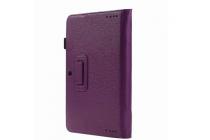 """Фирменный чехол для ASUS Transformer Book T100HA / Z8500 10.1"""" с отделением под клавиатуру фиолетовый кожаный"""