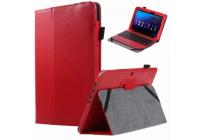 """Фирменный чехол для ASUS Transformer Book T100HA / Z8500 10.1"""" с отделением под клавиатуру красный кожаный"""