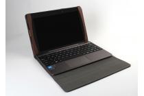 Фирменный оригинальный чехол для ASUS Transformer Book T100HA / Z8500 10.1 с отделением под клавиатуру красный кожаный