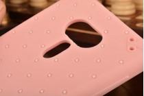 """Фирменная необычная уникальная полимерная мягкая задняя панель-чехол-накладка для ASUS ZenFone 3 Deluxe ZS570KL 5.7"""" """"тематика Андроид в клубничном шоколаде"""""""