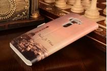 Фирменный чехол-книжка с рисунком на тему Эйфелева Башня на ASUS ZenFone 3 Deluxe ZS570KL 5.7 с окошком для звонков