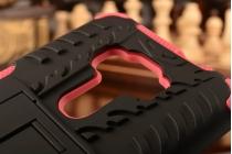 """Противоударный усиленный ударопрочный фирменный чехол-бампер-пенал для ASUS Zenfone 3 ZE552KL 5.5"""" красный"""