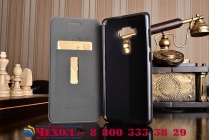 """Фирменный премиальный чехол-книжка из качественной импортной кожи с мульти-подставкой и визитницей на жёсткой металлической основе для for ASUS ZenFone 3 Deluxe ZS570KL 5.7"""" """"Винтаж"""" черный"""