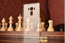 Фирменная ультра-тонкая пластиковая задняя панель-чехол-накладка для ASUS ZenFone 3 Deluxe ZS570KL 5.7 прозрачная